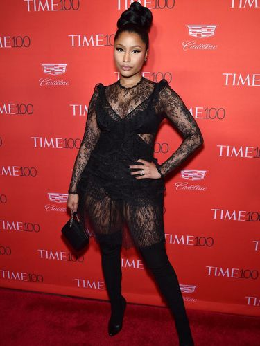 NEW YORK, NY - APRIL 26:  Rapper Nicki Minaj attends 2016 Time 100 Gala, Time's Most Influential People In The World red carpet at Jazz At Lincoln Center at the Times Warner Center on April 26, 2016 in New York City.  (Photo by Dimitrios Kambouris/Getty Images for Time)