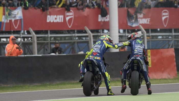 Valentino Rossi dan Maverick Vinales (Foto: Mirco Lazzari gp/Getty Images)
