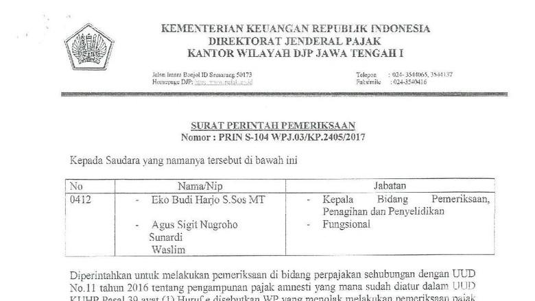 Kantor Pajak Di Semarang Dicatut Untuk Penipuan