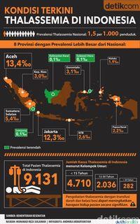 Infografis: Sebaran Data Pasien Thalassemia di Indonesia
