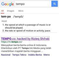 Screenshot tempo.co saat dicari lewat Google