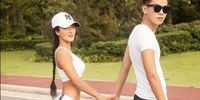 Liu Yelin bersama putranya