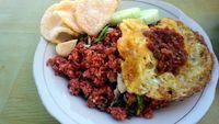 Nasi Goreng Merah Ikan Cakalang (Wahyu/detikTravel)