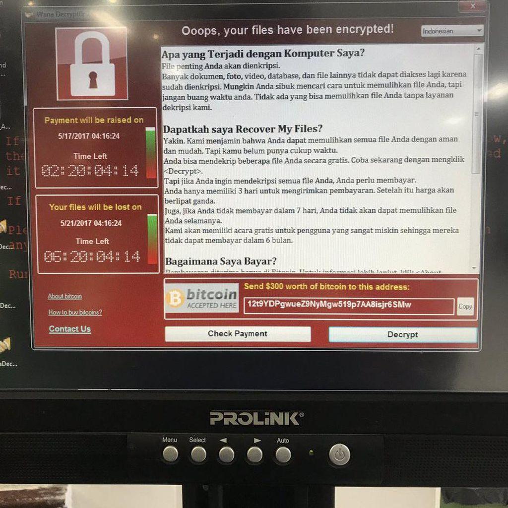 Serangan WannaCry di Indonesia Terbesar Kedua di Dunia