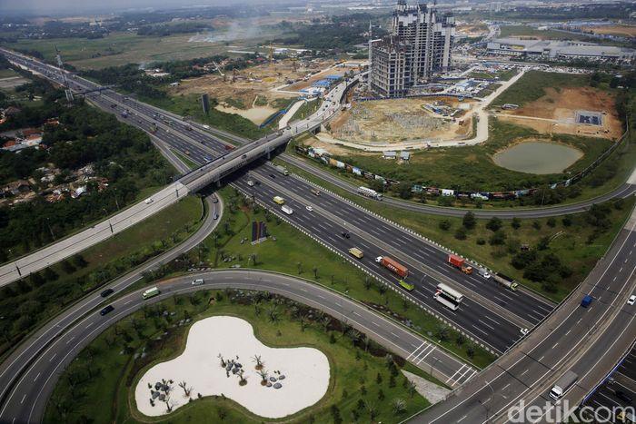 Begini penampakan pembangunan kota dengan investasi Rp 278 Triliun yang dibangun James Riady diambil dari udara, Sabtu (13/5/2017).