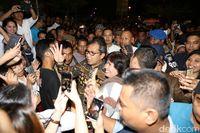 Aksi solidaritas untuk Ahok dibubarkan massa.