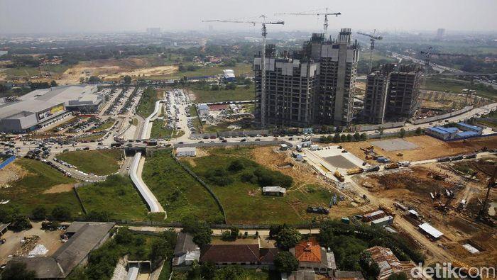 Begini Pembangunan di Kota Baru Meikarta Cikarang/Foto: Rachman Haryanto