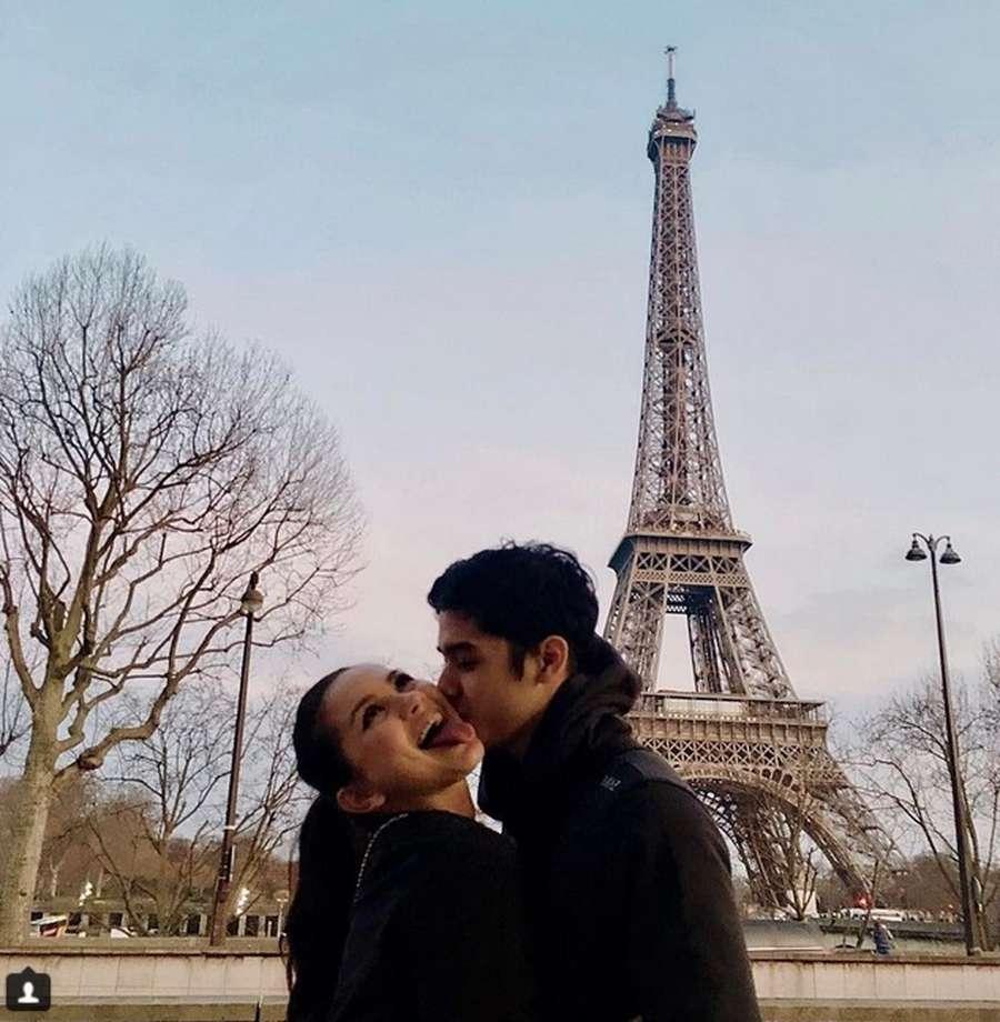 Menara Eiffel hingga Renang Bareng, Momen-momen Mesra Al dan Alyssa Daguise