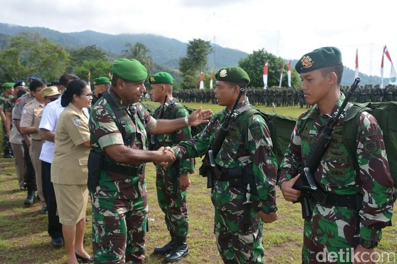 1.350 Prajurit TNI Tiba di Papua untuk Pengamanan Perbatasan