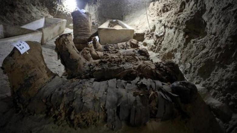 Arkeolog Temukan 17 Mumi di Kuburan Kuno Mesir