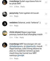 Salah seorang netizen melaporkan aksi ketiga bocah tersebut ke MRT Jakarta