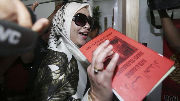 Firza Husein yang dijerat dalam kasus percakapan mesum bersama Rizieq Shihab.