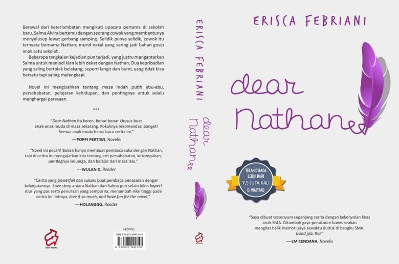 Rayakan Hari Buku Nasional 2017, Baca Dulu Novel Populer Dear Nathan