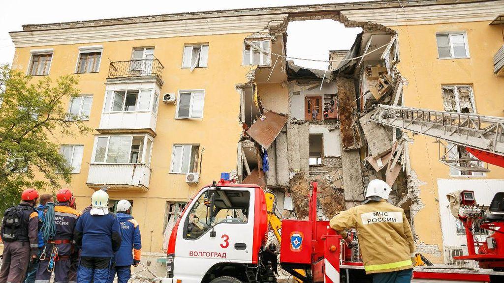 Ledakan Terjadi di Gedung 5 Lantai di Rusia, 2 Orang Tewas