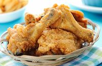 Ayam goreng tepung untuk bekal mudik