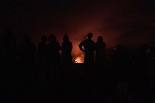 Kawah gunung api di Hawaii
