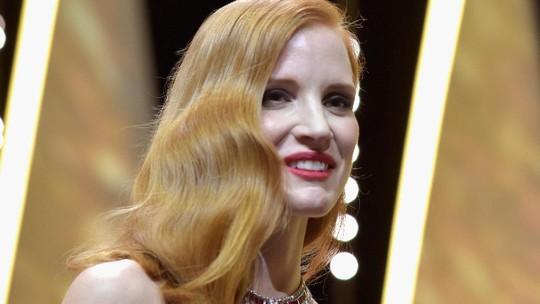 Pesona Jessica Chastain di Cannes
