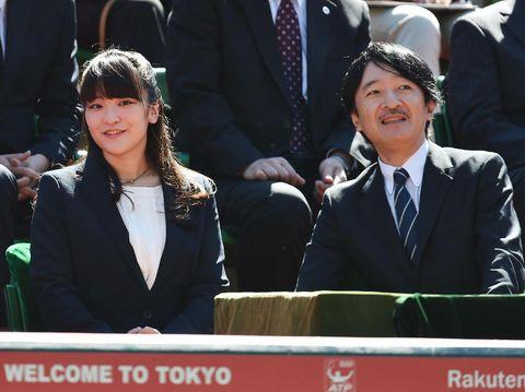 Putri Mako dan ayahnya, Pangeran Fumihito.