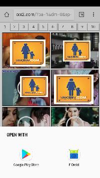 Gambar 6, Salah satu tampilan iklan porno yang akan muncul