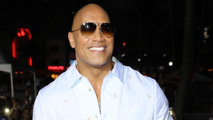 MIAMI, FL - MAY 13: Dwayne Johnson attends the world premiere of Paramount Pictures film Baywatch at South Beach on May 13, 2017 in Miami, Florida. (Photo by Alexander Tamargo/Getty Images for Paramount Pictures)