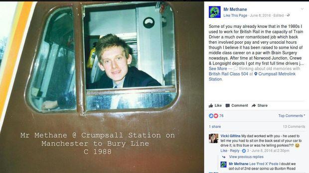 Paul saat masih menjadi masinis (Foto: Facebook/Mr Methane)