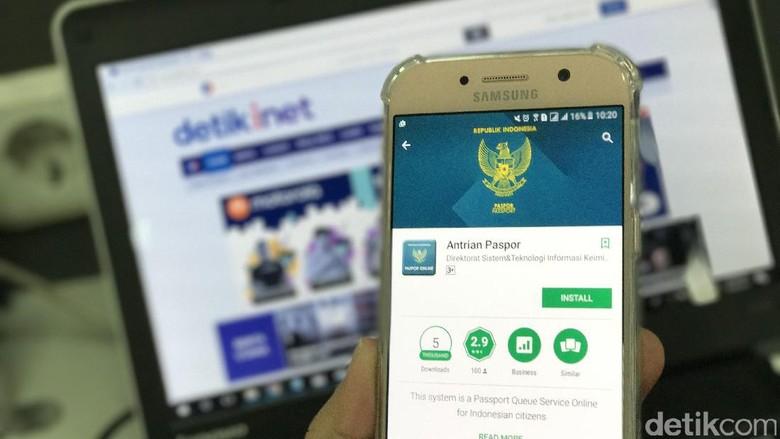 Uji Coba Sepekan, Antrean Paspor via Aplikasi Terus Disempurnakan