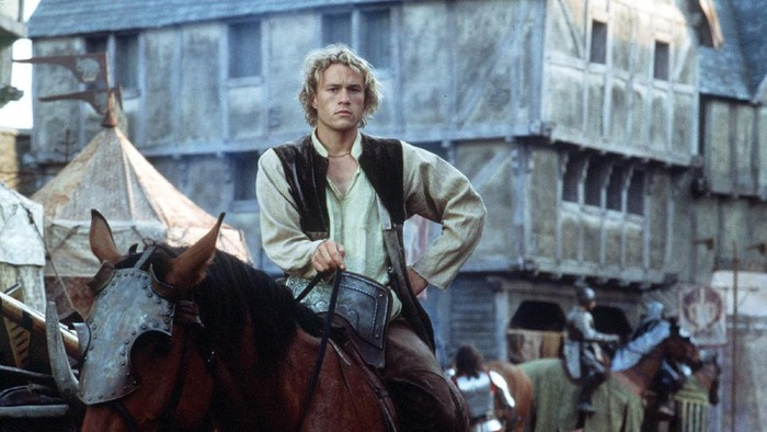 385099 13: Actor Heath Ledger stars as William Thatcher in Columbia Pictures A Knights Tale. (Photo by Egon Endrenyi/Columbia Pictures/Sony Pictures)