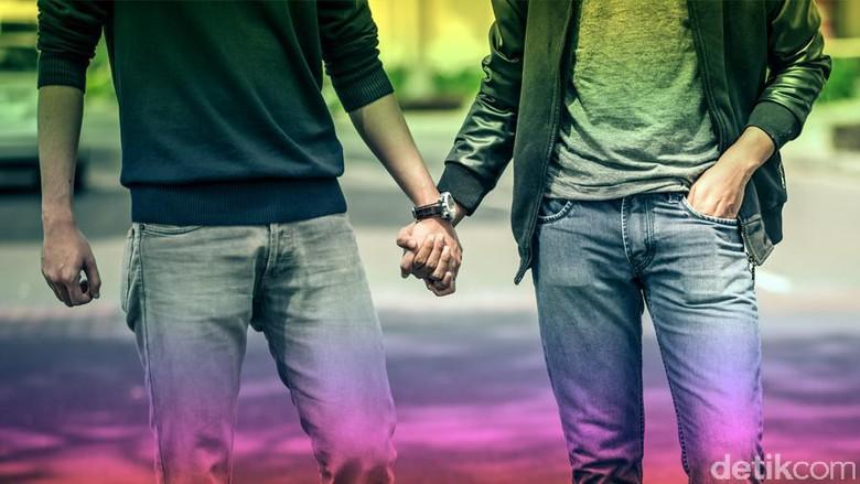 Ilustrasi pasangan gay (Andhika Akbaryansyah/detikcom)