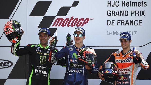 Maverick Vinales meraih kemenangan di MotoGP Prancis musim lalu.