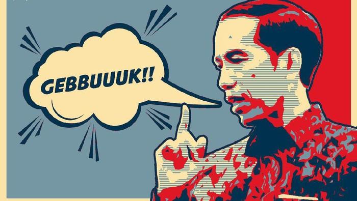 ilustrasi pernyataan presiden jokowi tentang gebuk pki