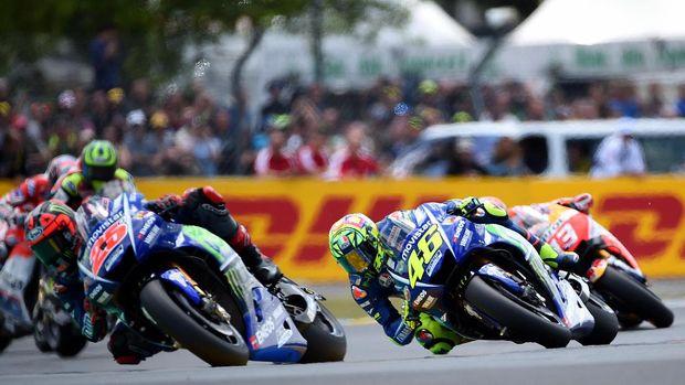 Valentino Rossi gagal finis pada balapan MotoGP Prancis musim lalu.