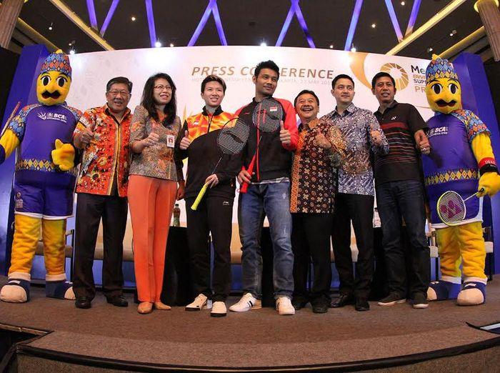 Pres konfrens Indonesia Open. (Foto: Ist)