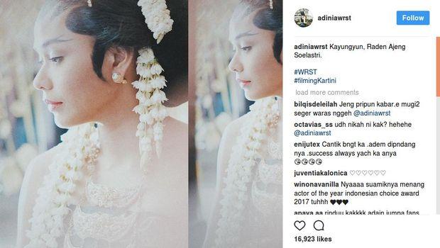 Catatan harian Adinia Wirasti di media sosial