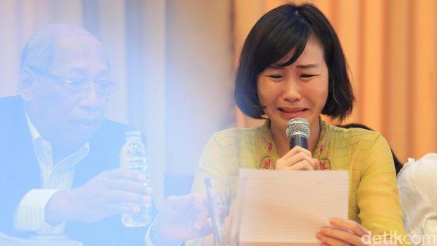 Veronica menangis saat membacakan surat Ahok cabut banding /
