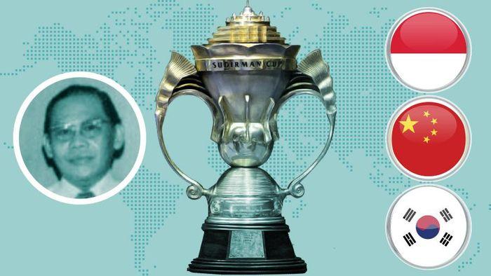 Trofi Piala Sudirman (Foto: Infografis Detiksport)