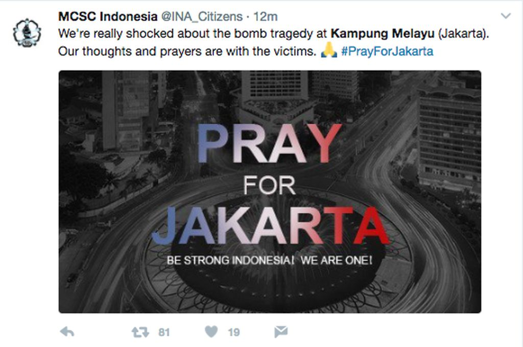 Ilustrasi bertema Pray For Jakarta membanjiri media sosial. Foto: istimewa