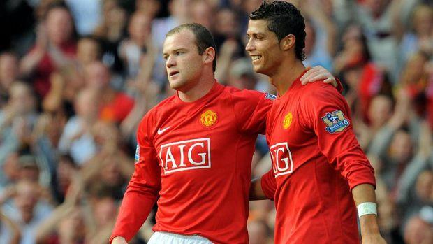 Cristiano Ronaldo dan Wayne Rooney pernah menikmati masa-masa indah di MU. (