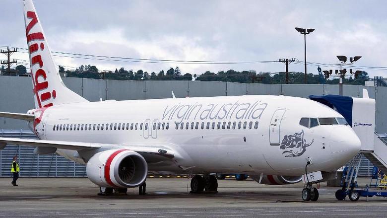 Ilustrasi maskapai Virgin Australia