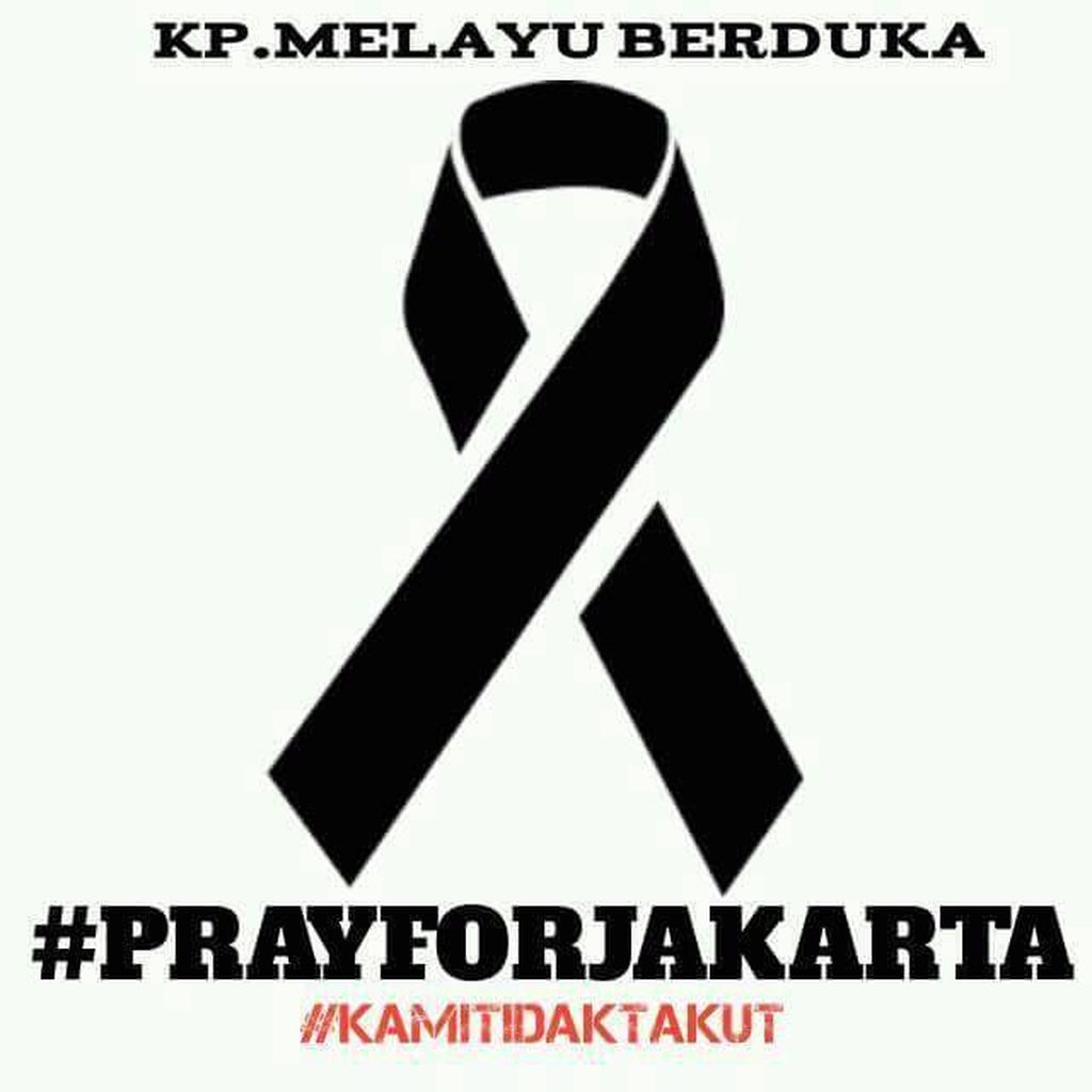 Hashtag #prayforjakarta langsung menggema di linimasa media sosial. Foto: istimewa