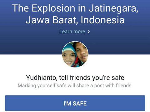 Ada Bom di Kampung Melayu, Facebook Aktifkan Safety Check