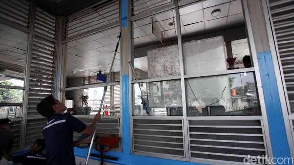 Perbaikan Halte TransJ Kampung Melayu Habiskan Biaya Rp 10 juta