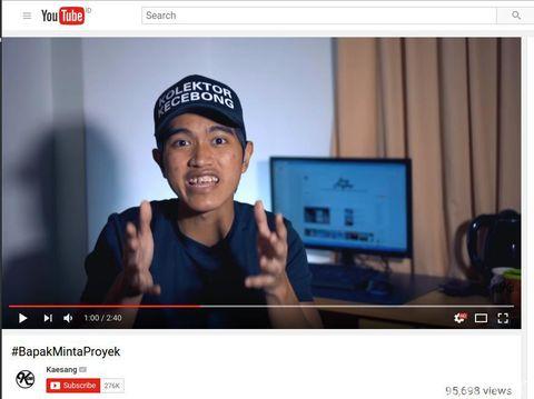 Kaesang Pangarep di video #BapakMintaProyek