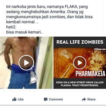 Kabar tentang flakka yang bisa mengubah seseorang menjadi zombie.