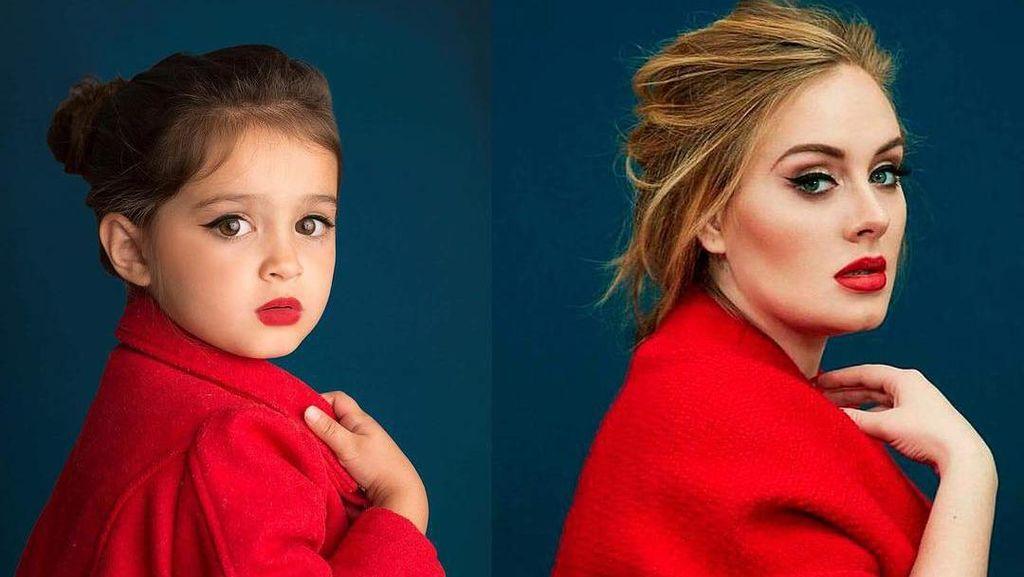 Gemas, Foto-foto Bocah 3 Tahun Tiru Gaya Selebriti yang Jadi Viral