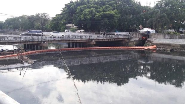 Kali Sekretaris, Daan Mogot, Jakarta Barat setelah dibersihkan, Selasa (30/5/2017)