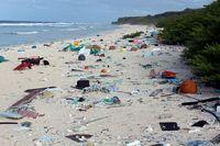 Sampah-sampah platik di Pulau Henderson (ABC Australia)