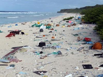 Pulau yang Jauh dari Mana-mana, Tapi Sampahnya dari Mana-mana