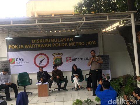 Diskusi Pokja Wartawan Polda Metro Jaya di Mapolda Metro Jaya, Jakarta, Rabu (31/5/2017).