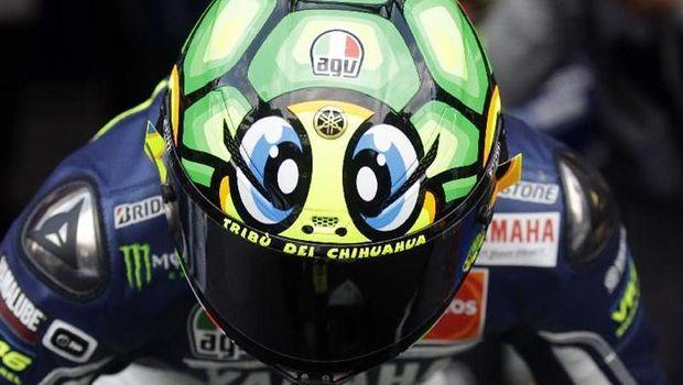 Helm-helm Valentino Rossi di Mugello