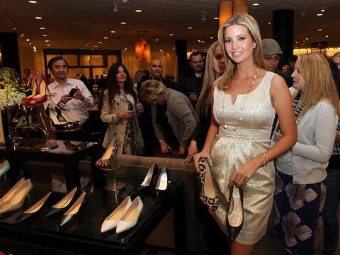 Ivanka Trump saat peluncuran label fashionnya.